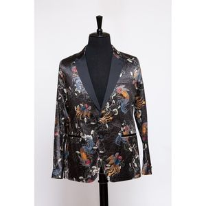 2-Piece Black Silk Print Suit (Item No. 74)